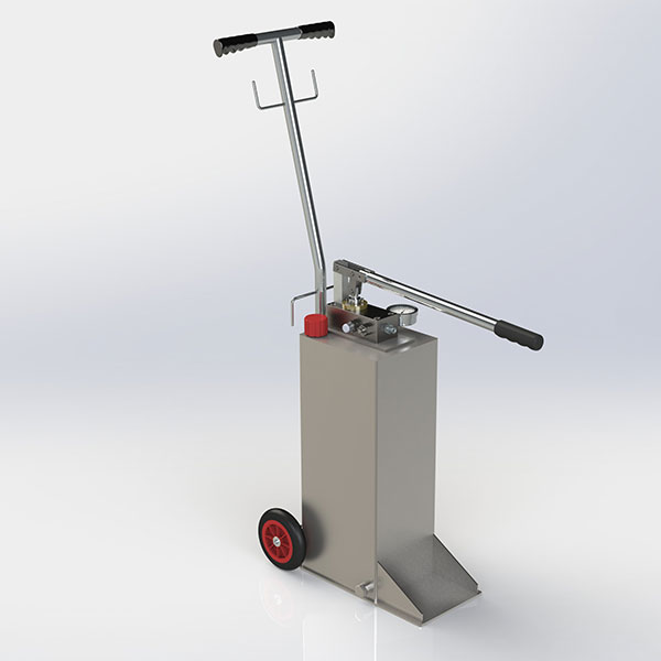 Charging and filling hand pump