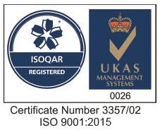ISOQAR and UKAS Logo