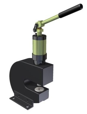 hydraulic punch with dual speed pump