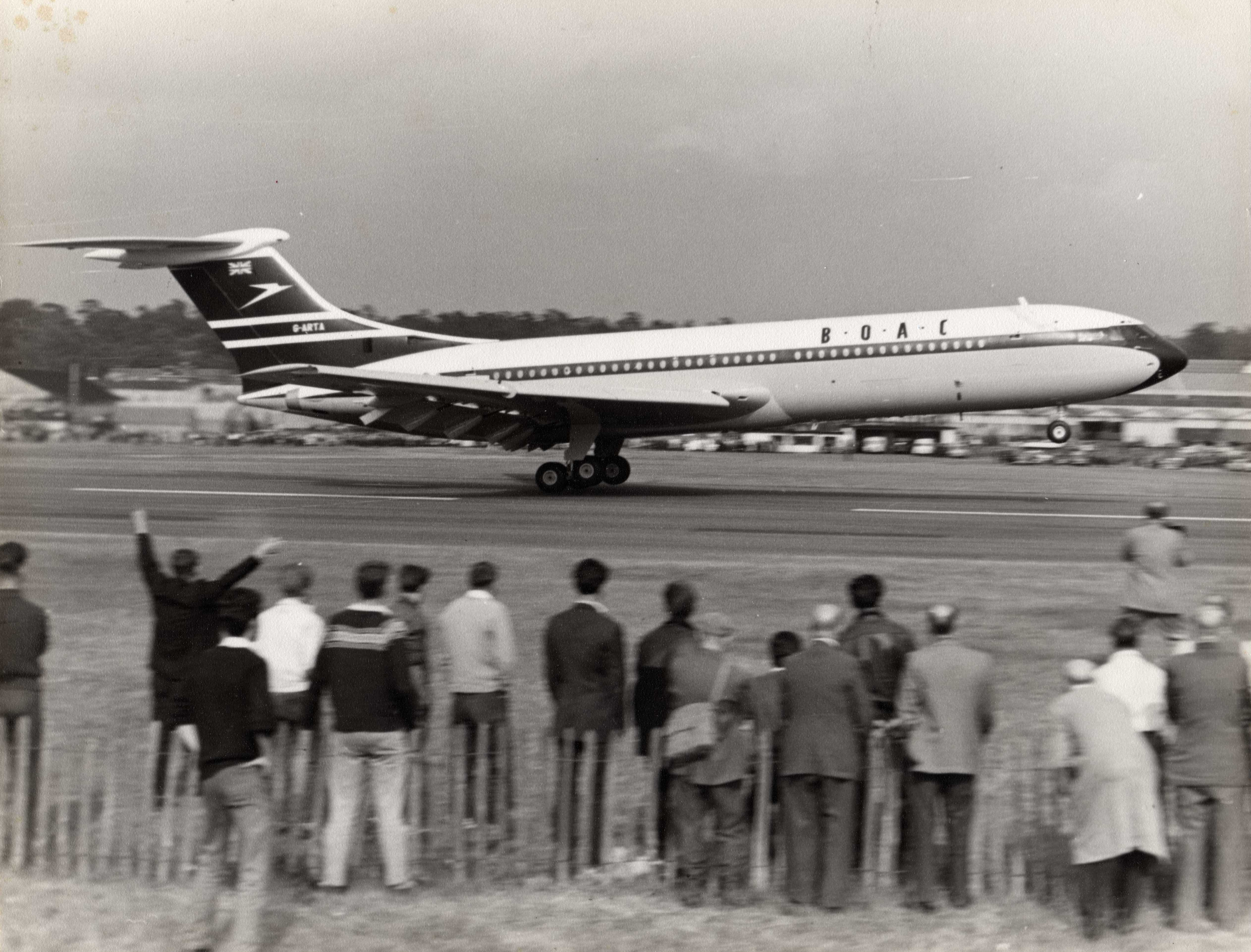 The first flight of the VC10 in 1962